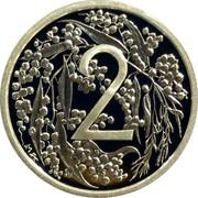 Australia 2 Cents 2009 P Proof KM# 1250 Commonwealth of Australia Decimal coinage 2 coin reverse