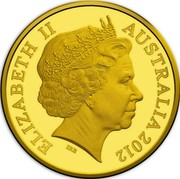 Australia 2 Cents Australian Miniature Money 2012 Proof KM# 2033 ELIZABETH II AUSTRALIA 2012 coin obverse