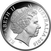 Australia 2 Cents Frill-necked Lizard - 50th Anniversary 2016 KM# 768a ELIZABETH II AUSTRALIA 2016 IRB coin obverse