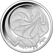 Australia 2 Cents Frill-necked Lizard - 50th Anniversary 2016 KM# 768a 2 coin reverse