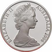 Australia 2 Cents Frilled-Neck Lizard 2006 KM# 63a ELIZABETH II AUSTRALIA 2006 coin obverse