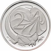 Australia 2 Cents Frilled-Neck Lizard 2006 KM# 63a 2 SD coin reverse