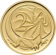 Australia 2 Cents Frilled-Neck Lizard 2006 KM# 768b 2 SD coin reverse