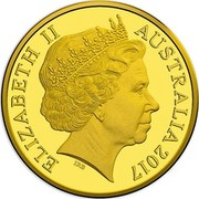Australia 2 Dollars Aboriginal Elder 2001 B Proof KM# 406a ELIZABETH II AUSTRALIA 2017 IRB coin obverse