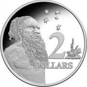 Australia 2 Dollars Aboriginal Elder 2017 KM# 406b 2 DOLLARS coin reverse