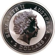 Australia 2 Dollars Australian Kookaburra 2003 World War II 1939 - 1945 KM# 879 ELIZABETH II AUSTRALIA 2 DOLLARS IRB coin obverse