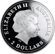 Australia 2 Dollars Australian Peacekeepers 2005 KM# 759 ELIZABETH II AUSTRALIA 2 DOLLARS IRB coin obverse