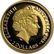 Australia 2 Dollars Frilled Neck Lizard 2013 Proof KM# 1959 ELIZABETH II AUSTRALIA 2013 2 DOLLARS IRB coin obverse