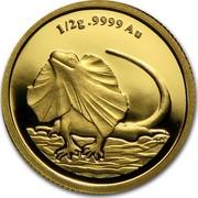 Australia 2 Dollars Frilled Neck Lizard 2013 Proof KM# 1959 1/2 .9999 AU coin reverse