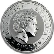 Australia 2 Dollars Lunar Dog 2006 KM# 1884 ELIZABETH II AUSTRALIA 2 DOLLARS IRB coin obverse