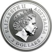 Australia 2 Dollars Lunar Dragon 2000 KM# 523 ELIZABETH II AUSTRALIA 2 DOLLARS IRB coin obverse