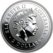 Australia 2 Dollars Lunar Pig 2007 KM# 1885 ELIZABETH II AUSTRALIA 2 DOLLARS IRB coin obverse