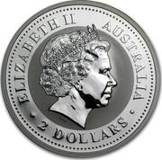 Australia 2 Dollars Lunar Rabbit 1999 KM# 503 ELIZABETH II AUSTRALIA 2 DOLLARS IRB coin obverse