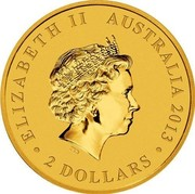 Australia 2 Dollars Mini Roo 2013 KM# 2072 ELIZABETH II AUSTRALIA 2013 2 DOLLARS IRB coin obverse
