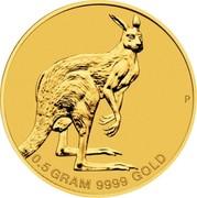 Australia 2 Dollars Mini Roo 2013 KM# 2072 0.5 GRAM 9999 GOLD P coin reverse