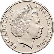 Australia 20 Cents (150th Anniversary of Burke & Wills) KM# 1430 ELIZABETH II AUSTRALIA 2010 IRB coin obverse