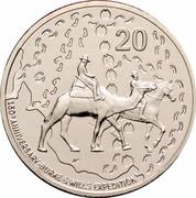 Australia 20 Cents (150th Anniversary of Burke & Wills) KM# 1430 20 W 150TH ANNIVERSARY BURKE & WILLS EXPIDITION coin reverse