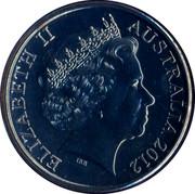 Australia 20 Cents Air Raid Shelter 2012 KM# 1742 ELIZABETH II AUSTRALIA 2012 IRB coin obverse