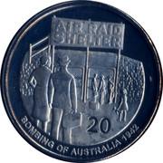 Australia 20 Cents Air Raid Shelter 2012 KM# 1742 AIR RAID SHELTER 20 BOMBING OF AUSTRALIA 1942 coin reverse