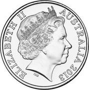 Australia 20 Cents Army Chaplains 2013 KM# 1967 ELIZABETH II AUSTRALIA 2013 IRB coin obverse
