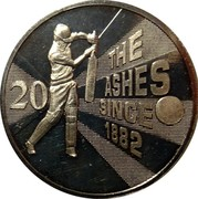 Australia 20 Cents Ashes Cricket Since 1882 2013 KM# 2144 THE ASHES SINCE 1882 20 coin reverse