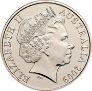 Australia 20 Cents Australia Remembers - Australian Service Nurses 2009 KM# 1433 ELIZABETH II AUSTRALIA 2009 IRB coin obverse
