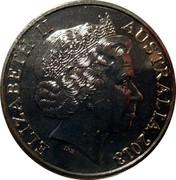 Australia 20 Cents Australian Banknotes 2013 KM# 1961 ELIZABETH II AUSTRALIA 2013 IRB coin obverse
