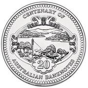 Australia 20 Cents Australian Banknotes 2013 KM# 1962 CENTENARY OF AUSTRALIAN BANKNOTES 20 coin reverse