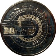 Australia 20 Cents Australian Mining 2013 KM# 2010 20 AUSTRALIAN MINING coin reverse