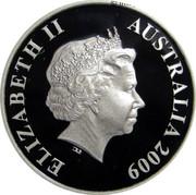 Australia 20 Cents Black Swan in Flight 2009 P Proof KM# 1253 ELIZABETH II AUSTRALIA 2009 coin obverse