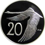 Australia 20 Cents Black Swan in Flight 2009 P Proof KM# 1253 20 coin reverse