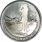 Australia 20 Cents Bombing of Australia 1942 2012 Proof KM# 1743a 20 BOMBING OF AUSTRALIA 1942 coin reverse