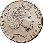Australia 20 Cents Centenary of Canberra 2013 KM# 2080 ELIZABETH II AUSTRALIA 2013 IRB coin obverse