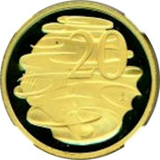 Australia 20 Cents Centenary of Federation 2001 Proof KM# 819 20 coin reverse