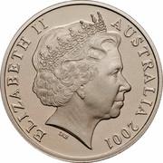 Australia 20 Cents (Centenary of Federation - Australian Capital Territory) KM# 552 ELIZABETH II AUSTRALIA 2001 IRB coin obverse