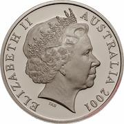 Australia 20 Cents (Centenary of Federation - New South Wales) KM# 550 ELIZABETH II AUSTRALIA 2001 IRB coin obverse