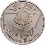 Australia 20 Cents (Centenary of Federation - New South Wales) KM# 550 1901-2001 JKN 20 CENTENARY OF FEDERATION coin reverse