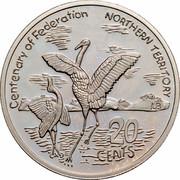 Australia 20 Cents (Centenary of Federation - Northern Territory) KM# 558 CENTENARY OF FEDERATION NORTHERN TERRITORY LB 20 CENTS coin reverse