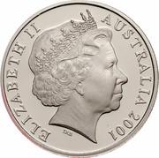 Australia 20 Cents (Centenary of Federation - Victoria) KM# 556 ELIZABETH II AUSTRALIA 2001 IRB coin obverse