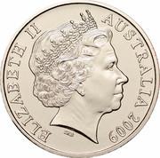 Australia 20 Cents (International Year of Astronomy) KM# 1075 ELIZABETH II AUSTRALIA 2009 IRB coin obverse
