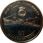 Australia 20 Cents Merchant Navy 2012 KM# 1857 AUSTRALIAN REMEMBERS MERCHANT NAVY 20 coin reverse