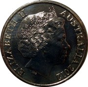 Australia 20 Cents Military Lookout 2012 KM# 1743 ELIZABETH II AUSTRALIA 2012 IRB coin obverse