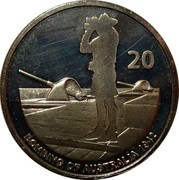 Australia 20 Cents Military Lookout 2012 KM# 1743 20 BOMBING OF AUSTRALIA 1942 coin reverse
