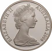 Australia 20 Cents Platypus 2006 KM# 66a ELIZABETH II AUSTRALIA 2006 coin obverse
