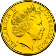 Australia 20 Cents Platypus 2012 Proof KM# 2036 ELIZABETH II AUSTRALIA 2012 IRB coin obverse