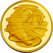 Australia 20 Cents Platypus 2012 Proof KM# 2036 20 LD coin reverse