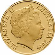 Australia 20 Cents (Platypus) KM# 403b ELIZABETH II AUSTRALIA 2006 IRB coin obverse