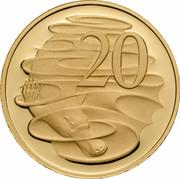 Australia 20 Cents (Platypus) KM# 403b 20 SD coin reverse