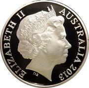 Australia 20 Cents Platypus (Gilded) 2013 KM# 403D ELIZABETH II AUSTRALIA 2013 IRB coin obverse