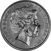 Australia 20 Cents Wheat Fields of Gold 2012 KM# 1625 ELIZABETH II AUSTRALIA 2012 IRB coin obverse